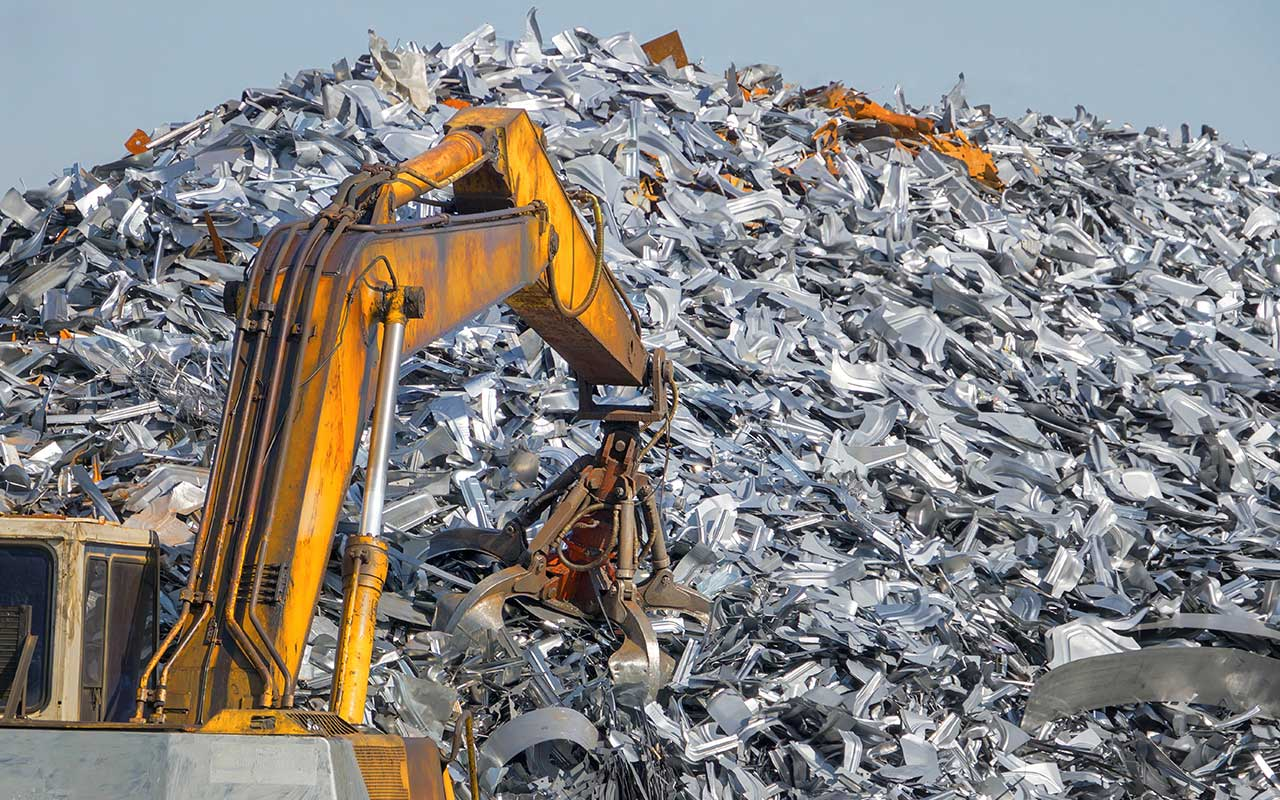 Scrap metal recycling process
